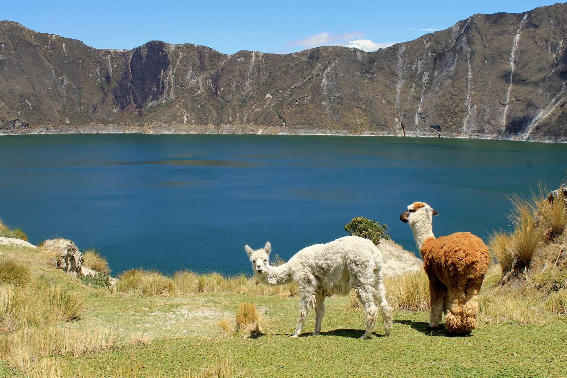 Laguna de Quilotoa en el Norte del Ecuador