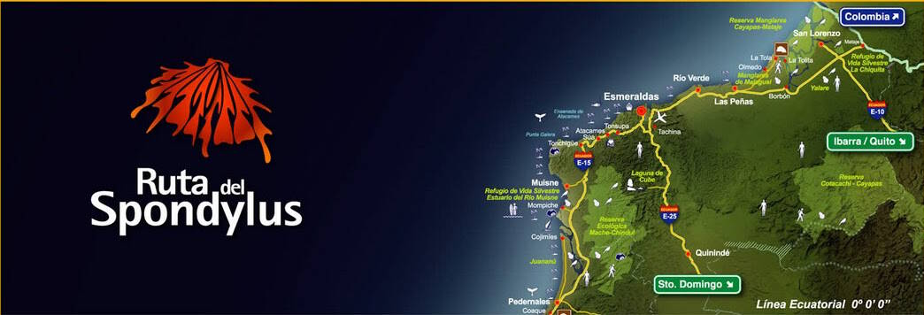 Tourist Map of the Spondylus Route in Ecuador