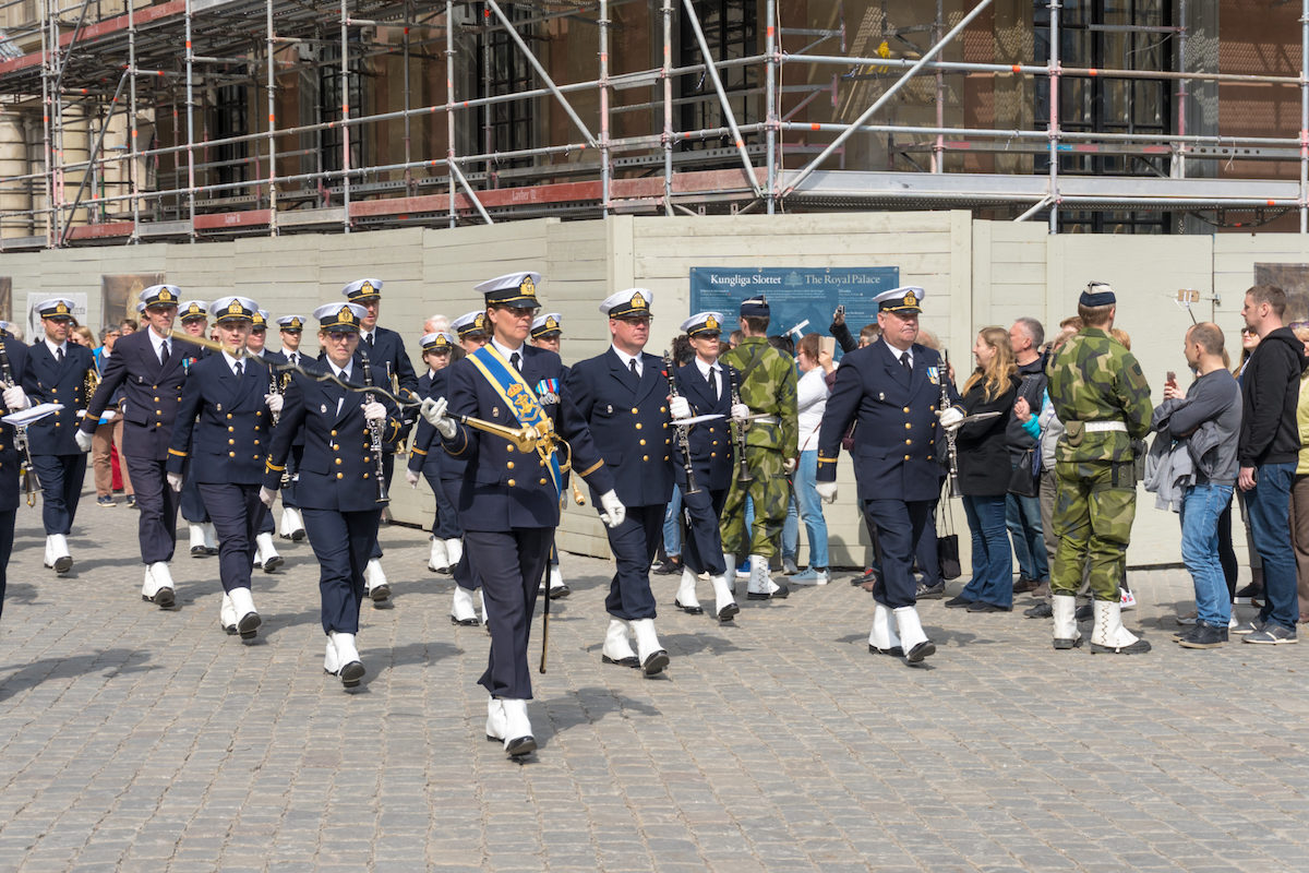 Sweden changing of the guards ceremony