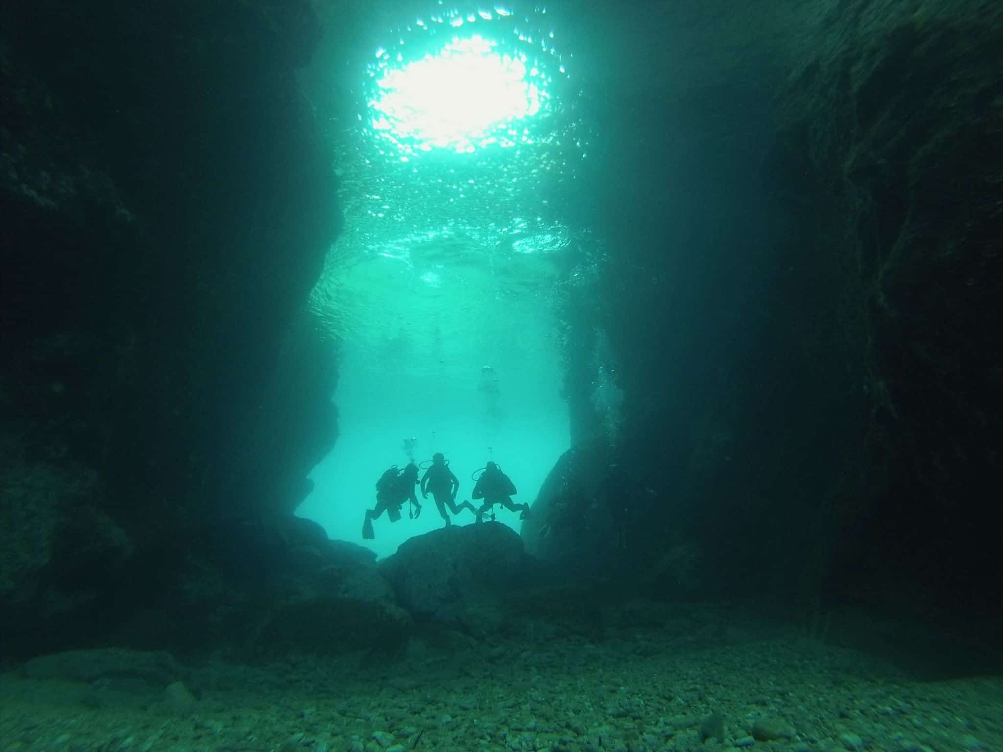 Caves GoDive Mykonos Greece