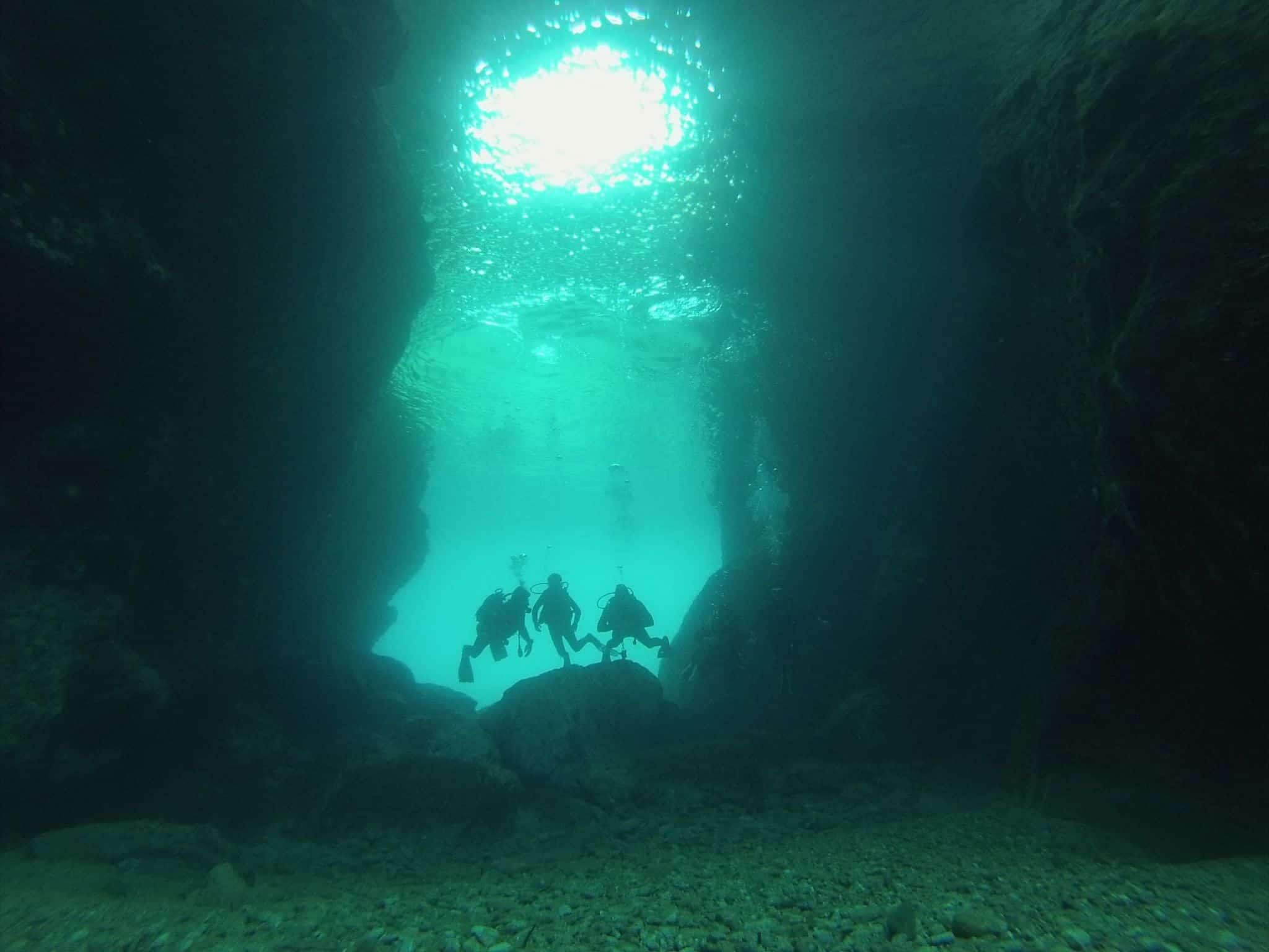 Caves GoDive Mykonos Greece
