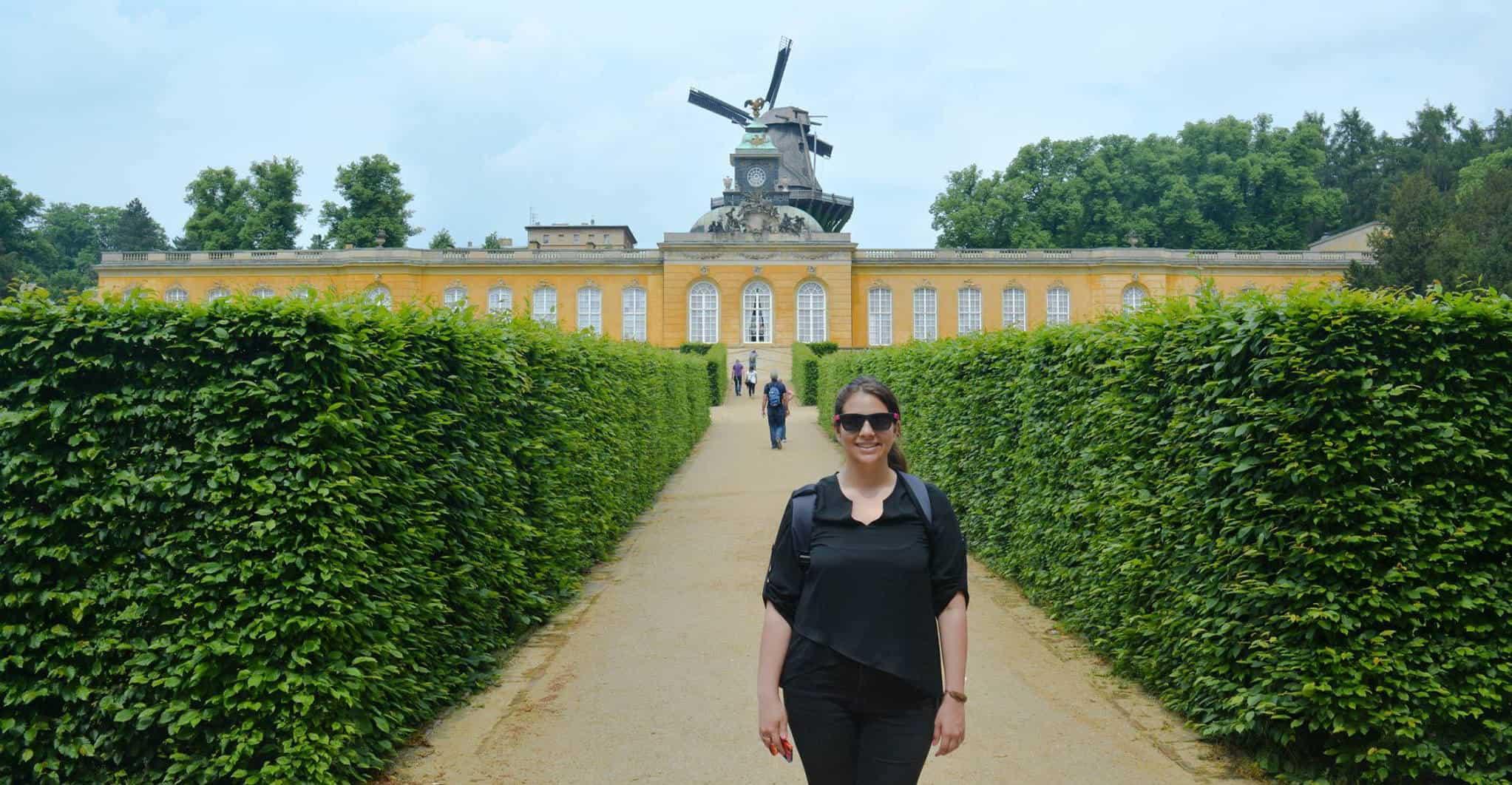 Histórico Molino de Sanssouci en Potsdam cerca de Berlín