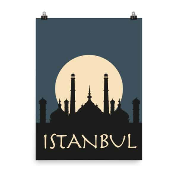 Istanbul Blue Poster