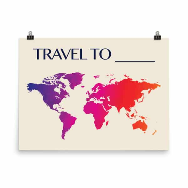 Travel To Blank Poster