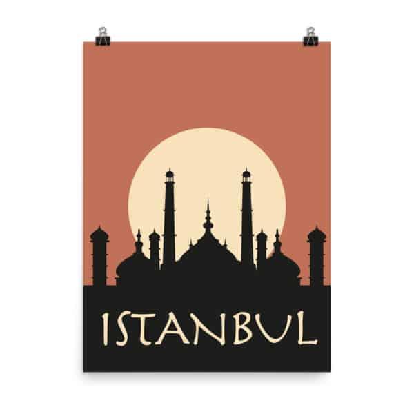 Istanbul Orange Poster