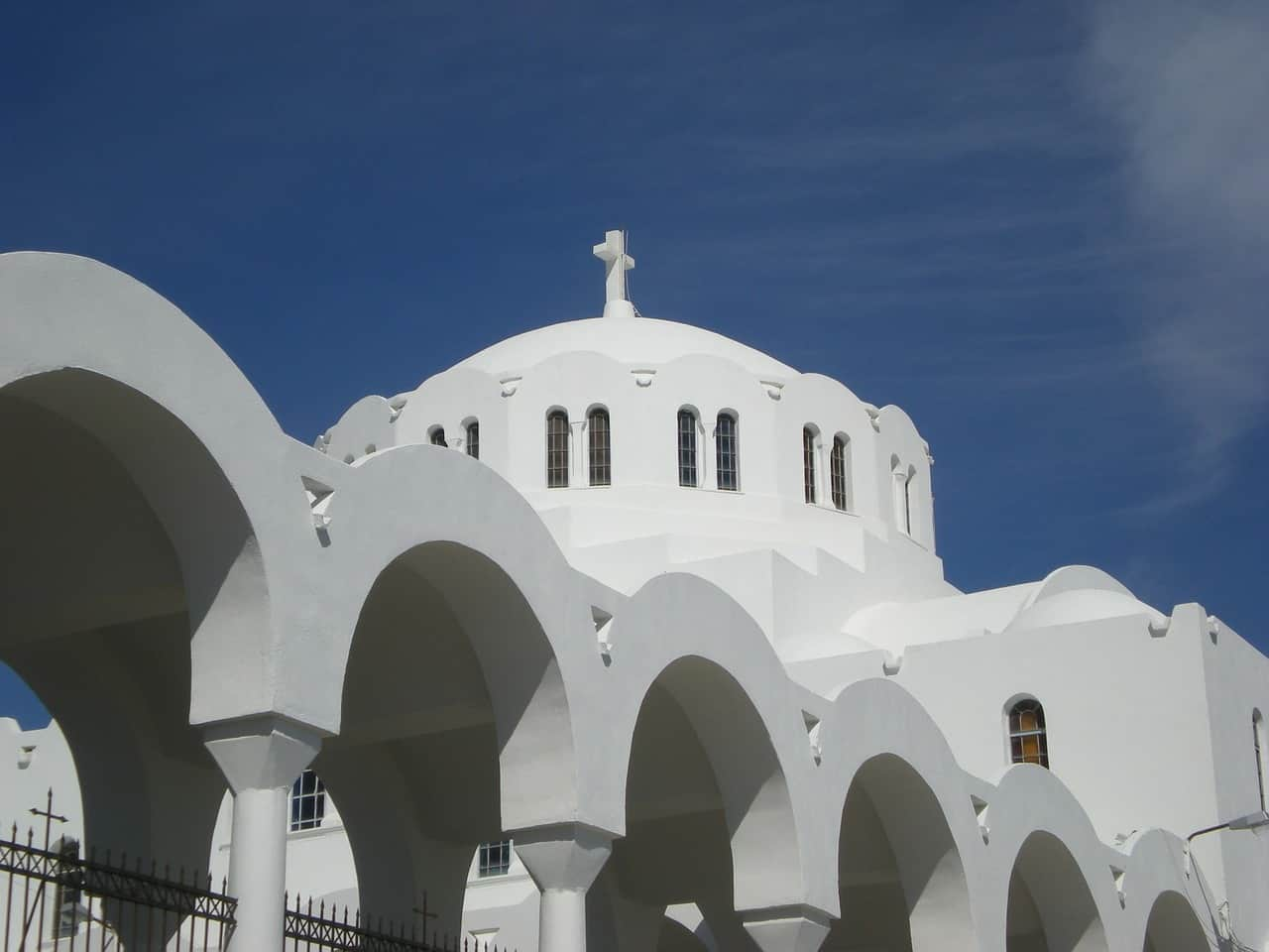 Orthodox Metropolitan Cathedral, santorini, Greece