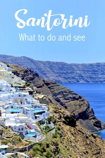 Santorini what to do and see