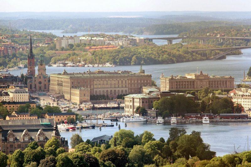 Vista del palacio real en Estocolmo