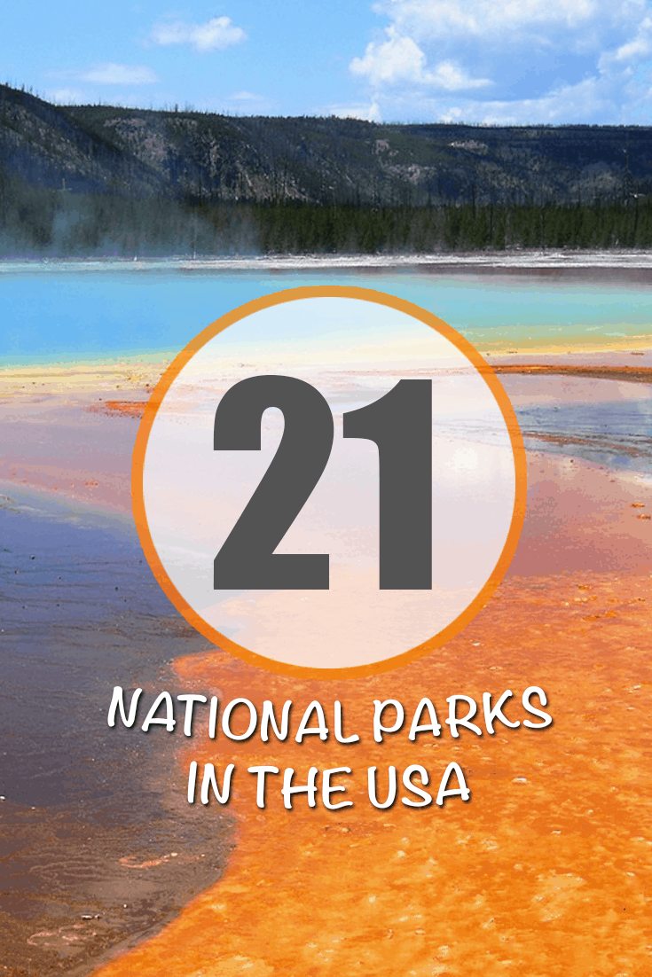21ish Best National Parks In The United States Read more of this travel guide at: https://traveltoblank.com/category/america/northamerica/united-states/