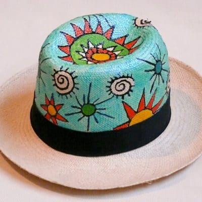 Hand Painted Genuine Panama Hat