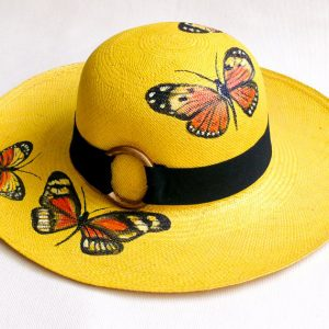 Hand Painted Genuine Panama Hat