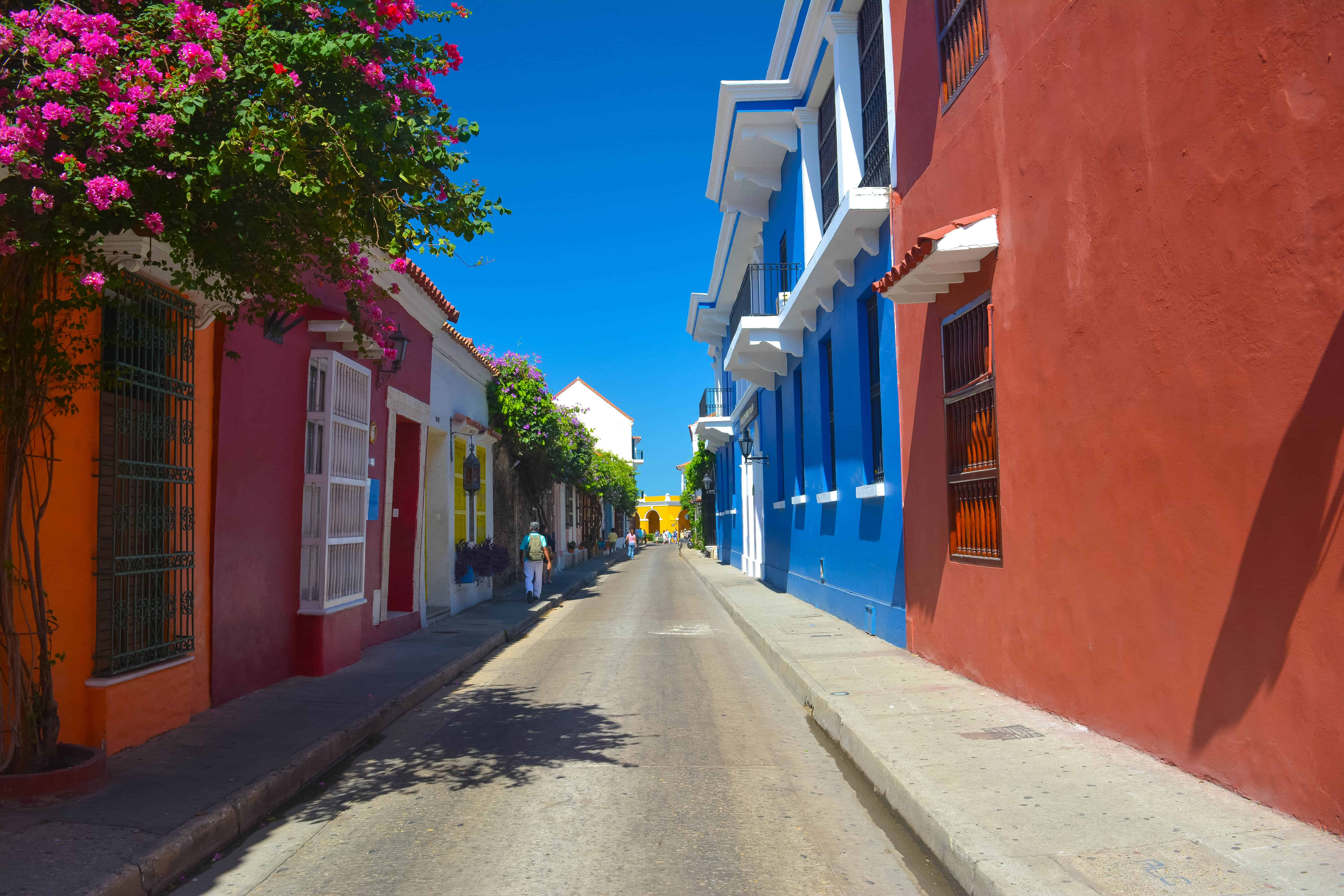 Get lost in the streets of Old Cartagena colorful alley