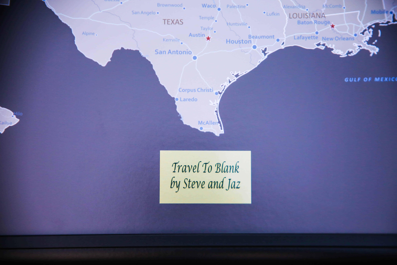 push pin travel map travel to blank