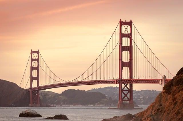Golden Bridge at sunset in San Francisco