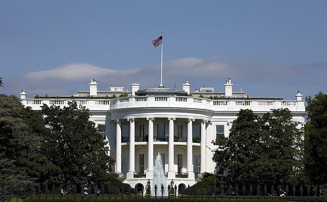 The white house in DC