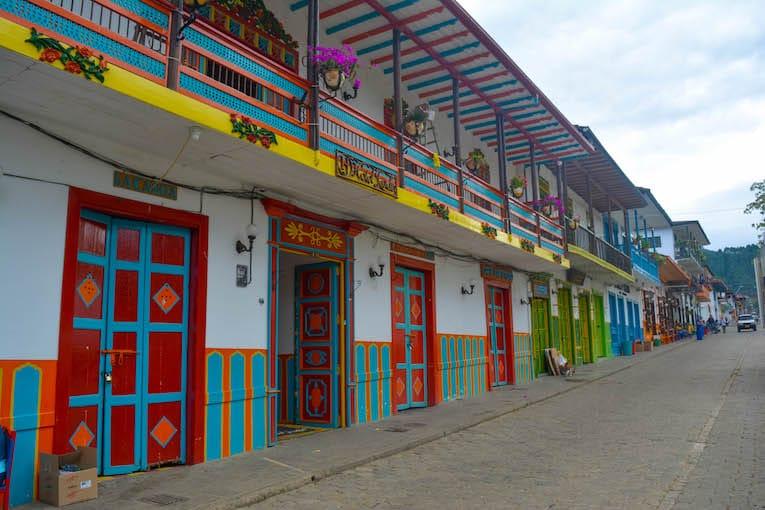 colorido pueblo de Jardín, Colombia