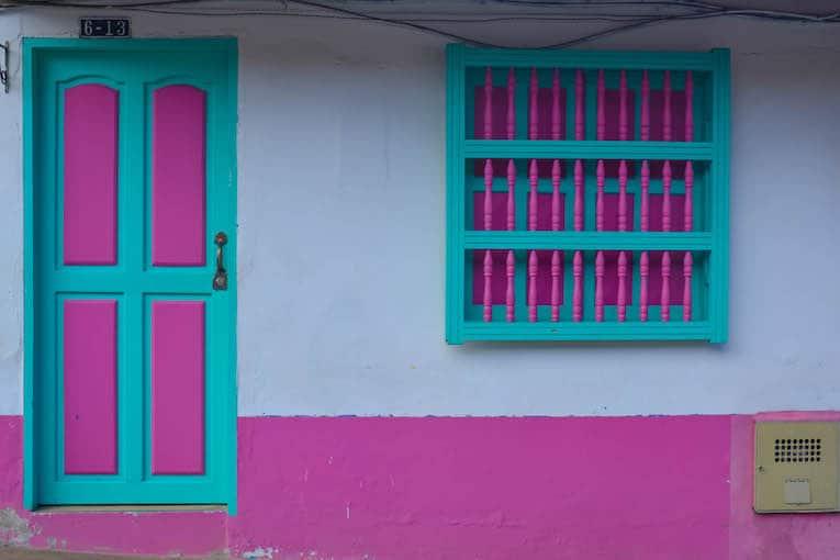 Jardín, colombia casa rosada
