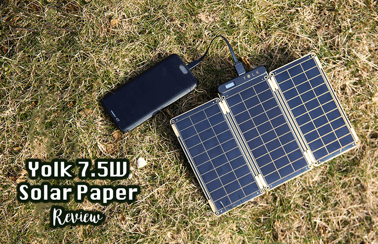 backpacking solar charger from Yolk