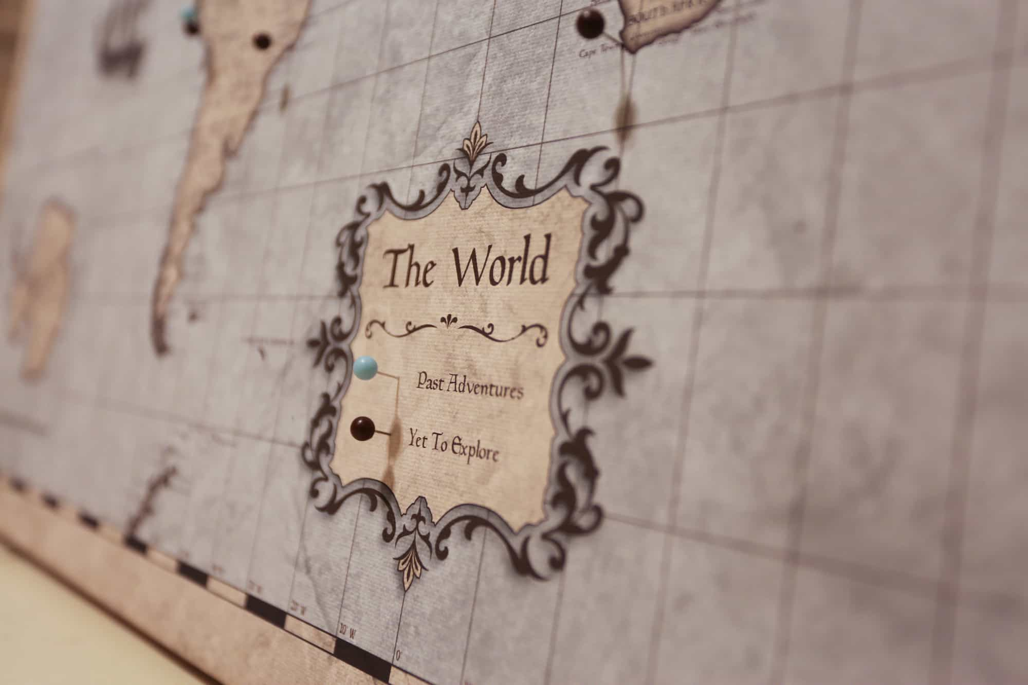 world map with pins Conquest Map