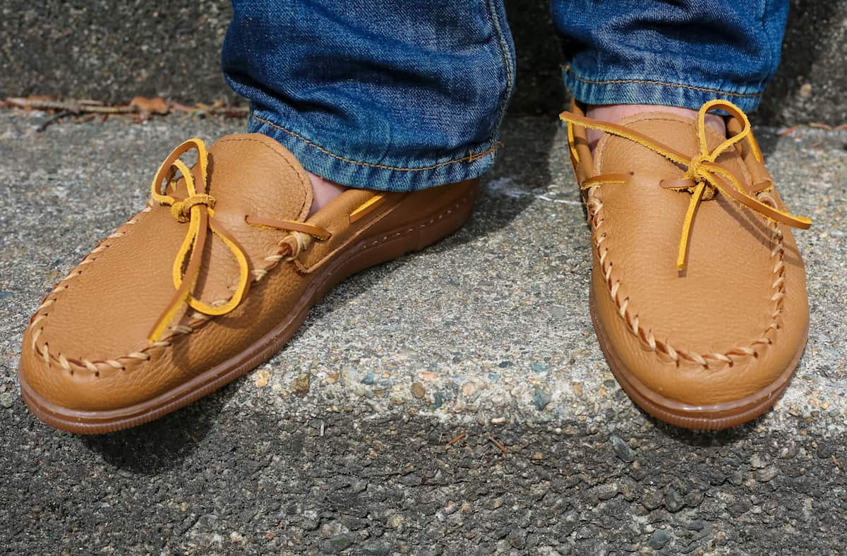 Genuine Moosehide Moccasins