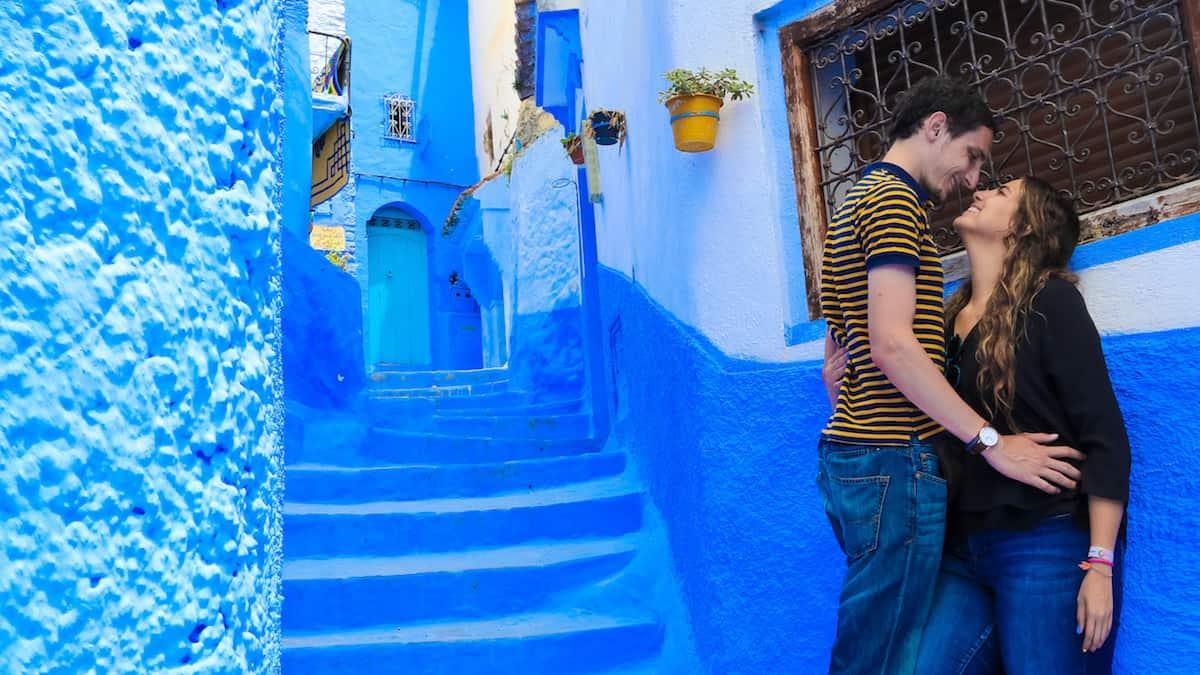 perdidos en Chefchaouen, Marruecos