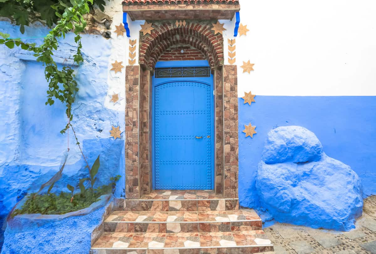 Casas pintadas de azul