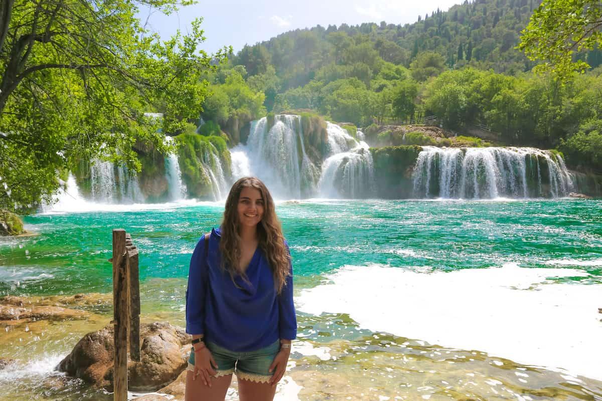Cascadas en parque nacional krka