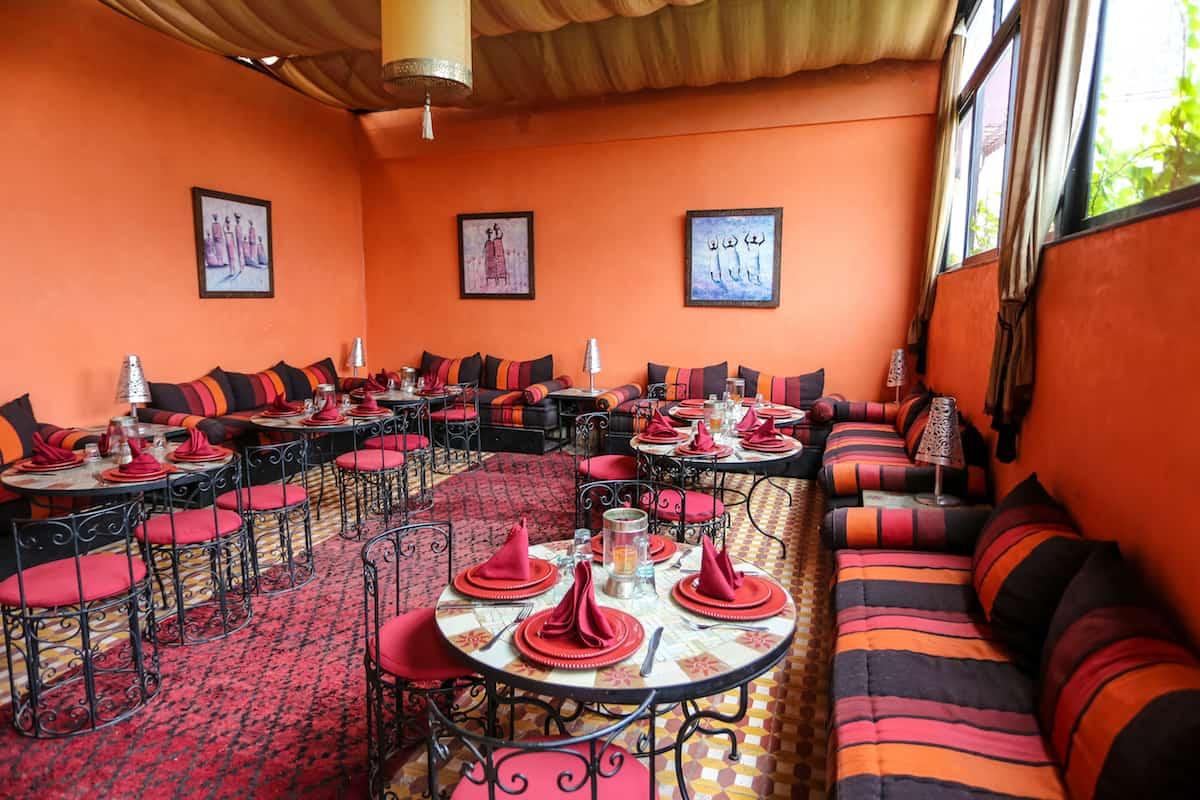 Hotel Sherazade Dinner room - hoteles riads en marruecos