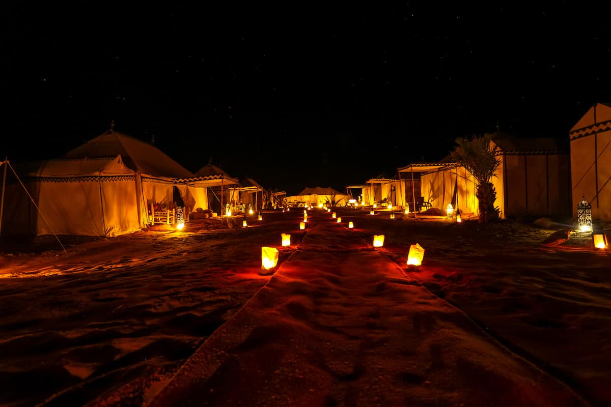 Glamping in Morocco's Sahara Desert
