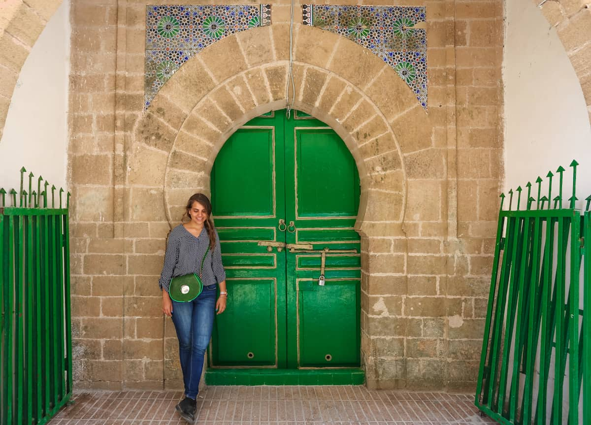Essaouira green door