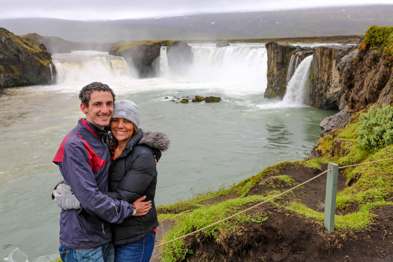 Cascada Godafoss con Steven