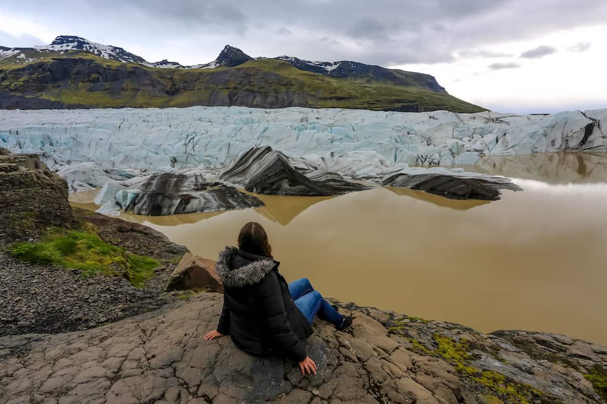Glaciar Vatnajökull contemplando el paisaje