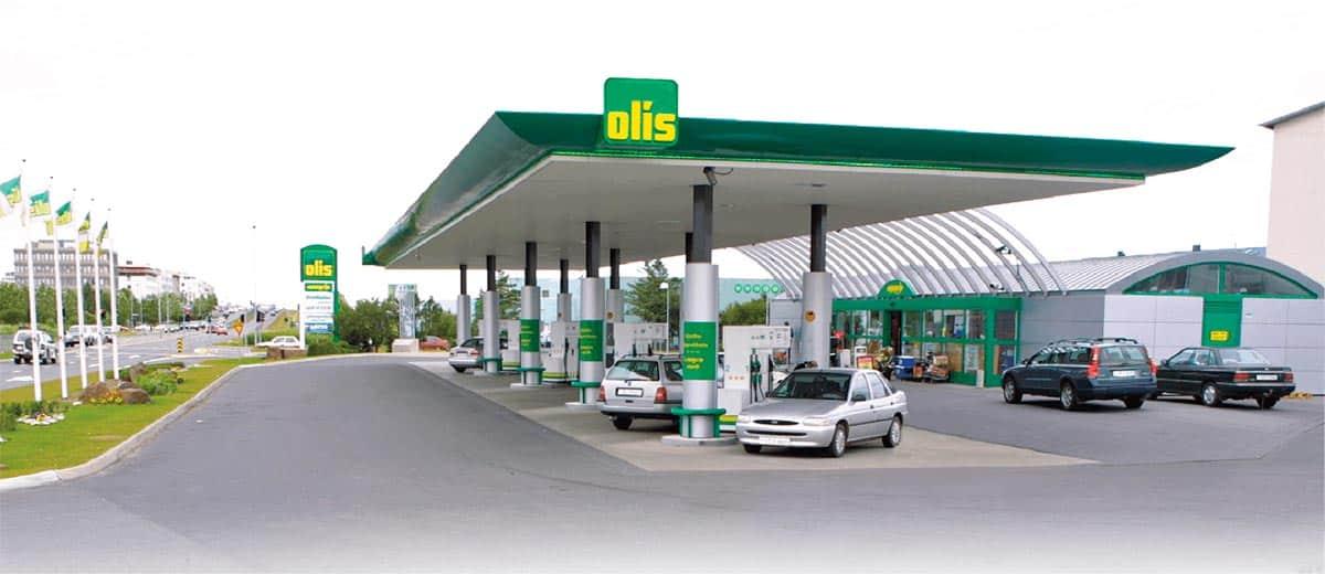 olis gasolinera Islandia