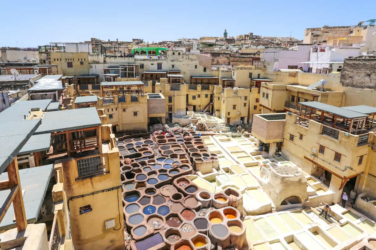 Traveling from Chefchaouen to Fes tanneries