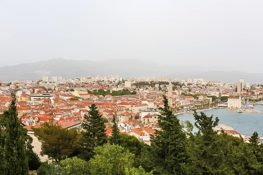 Hike to the top of Marjan Hill for a panoramic view of Split