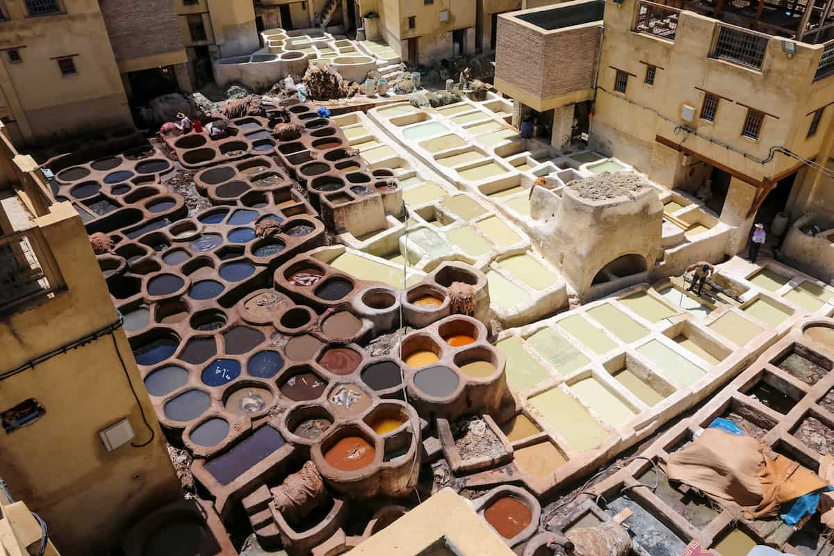 Make sure to visit the Chaouwara Tanneries