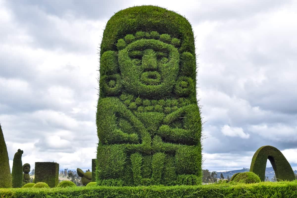 Plant Sculpture at the Cementerio de Tulcán, Ecuador