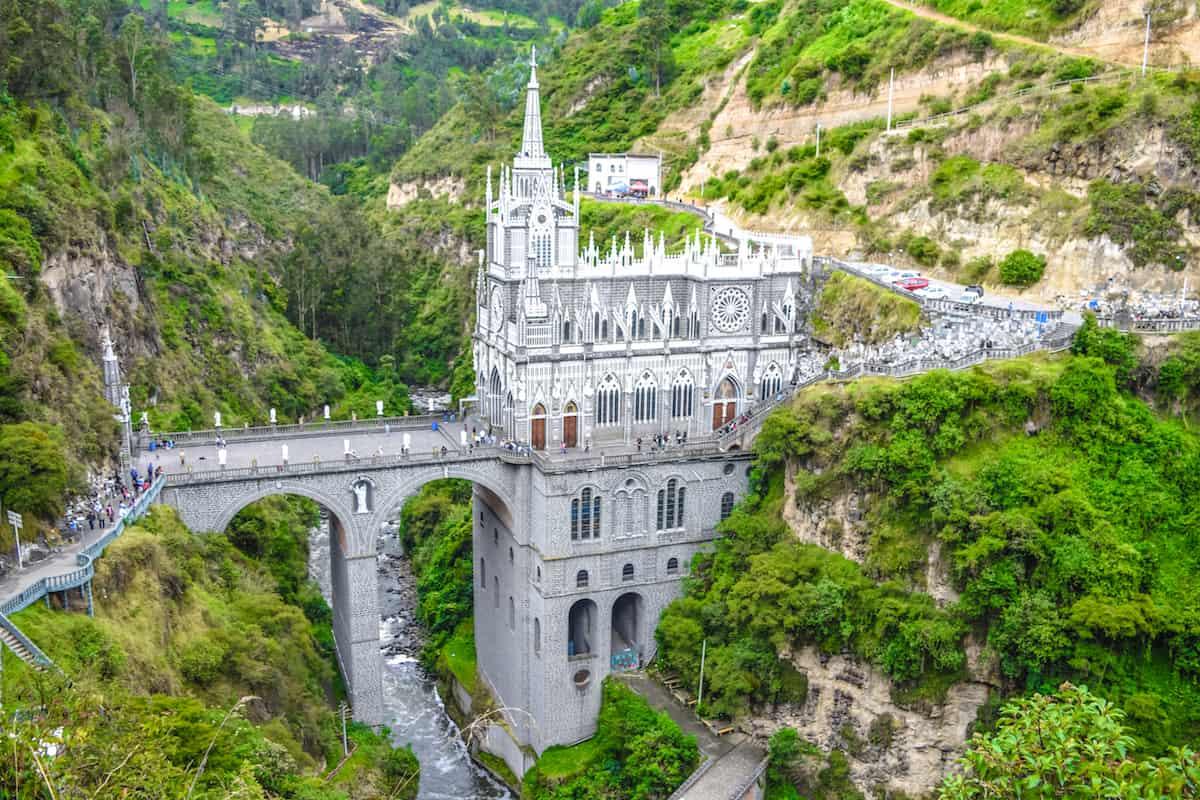 Las Lajas Sanctuary near Ipiales, Colombia