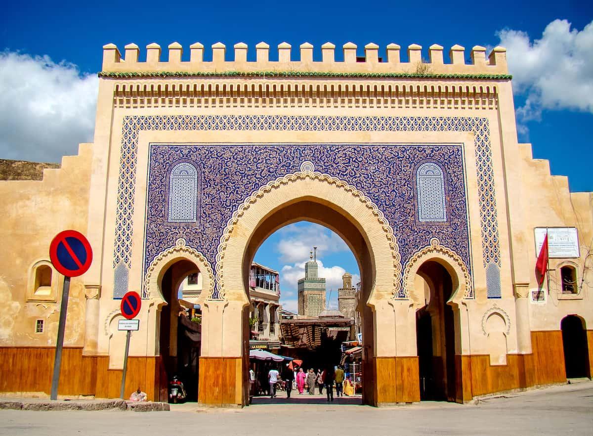 Take a photo of the Bab Bou Jeloud (The Blue Gate)