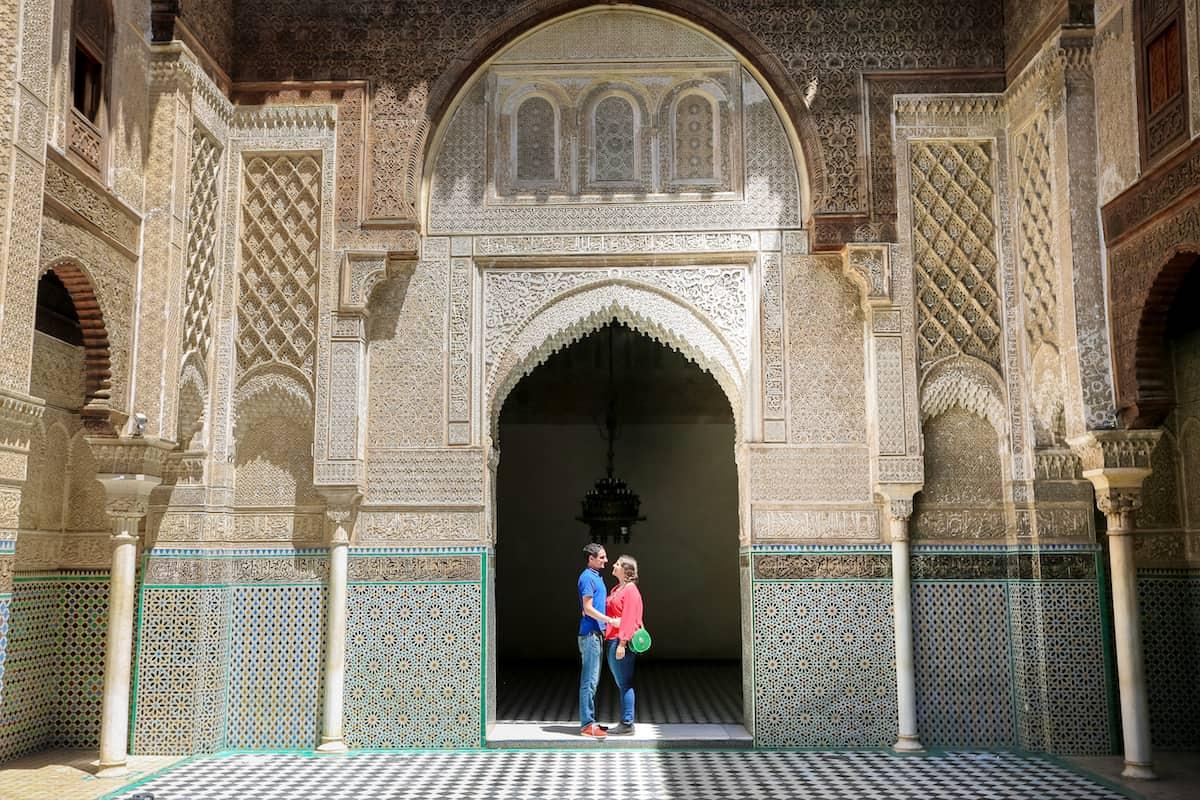 Go inside the Medersa el-Attarine