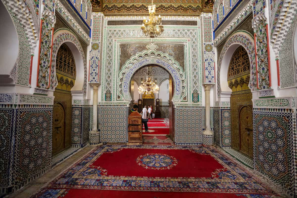 Take a quick peek at the Zaouia de Moulay Idriss II