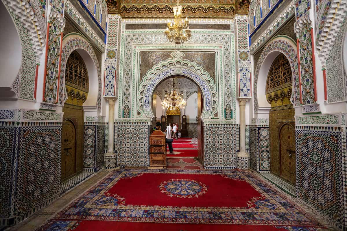 Take a quick peek at the Zaouia de Moulay Idriss II