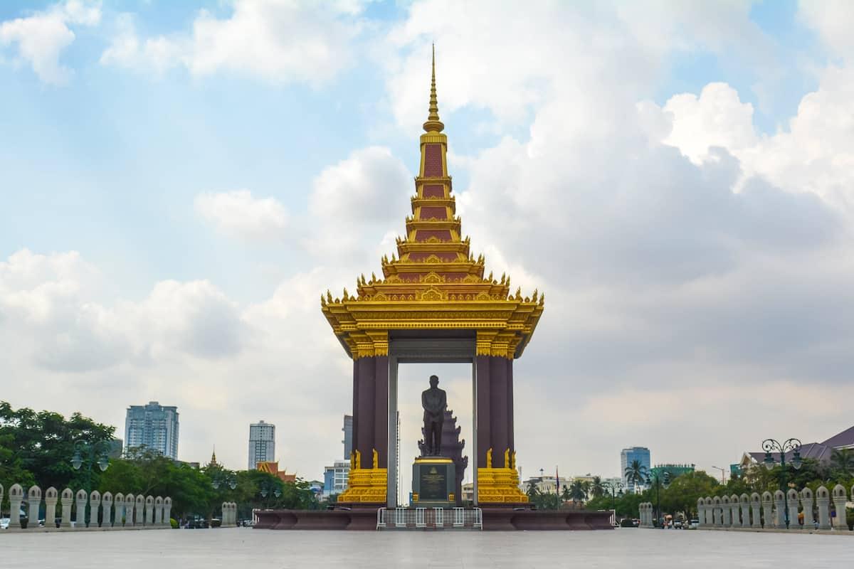 La Estatua de Norodom Sihanouk