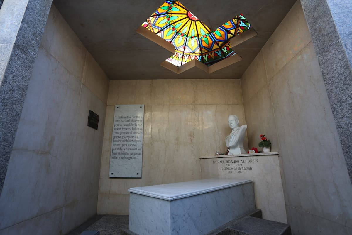 "With its many notable interments including several former presidents, the most visited site by far is that of Eva ""Evita"" Perón. There is quite a story behind how she ended up in Recoleta, which you can learn more of in the tour."