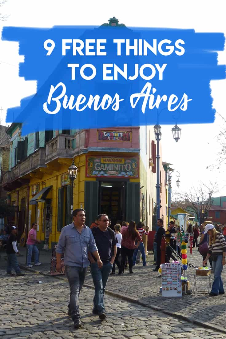 What to do and see in Buenos Aires for free. The best attractions in Buenos Aires.