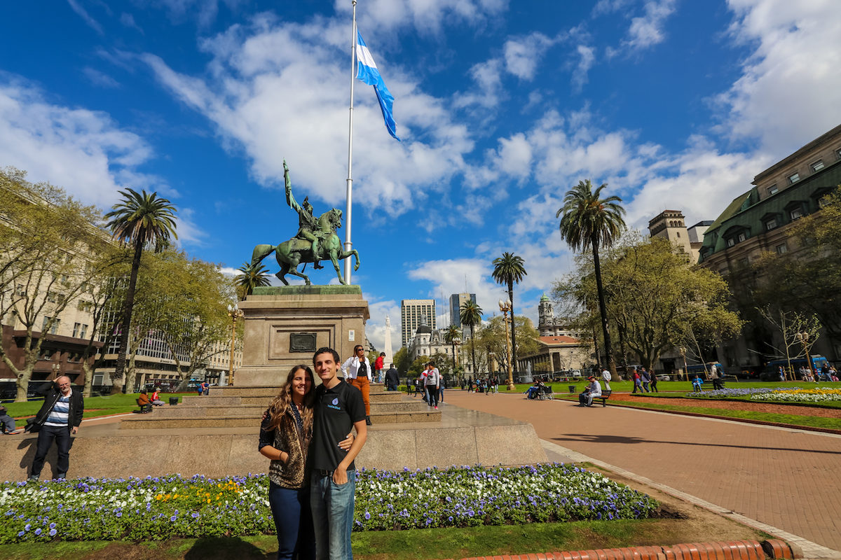 Plaza de Mayo, where the Metropolitan Cathedral, the Buenos Aires City Hall and the Pink House are located