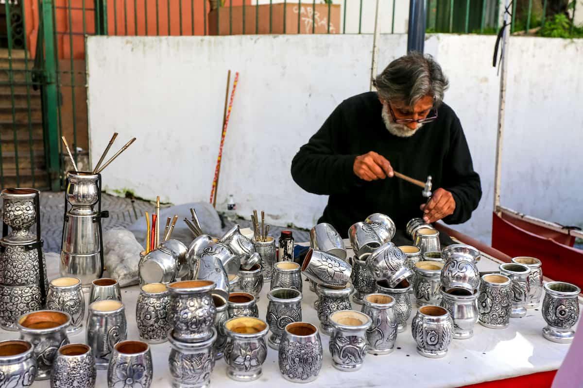 Sunday fair in Plaza Dorrego (San Telmo)