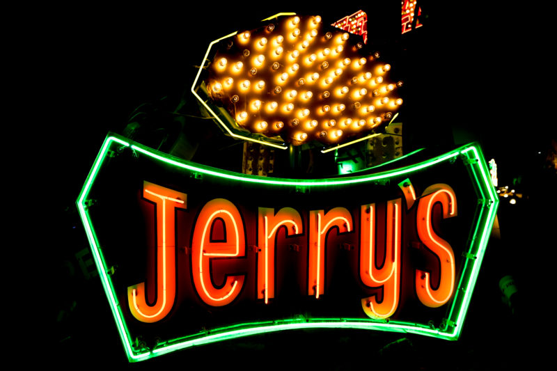 NEON MUSEUM JERRYS SIGN