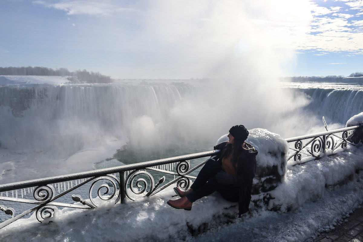 Overlooking an Icy Niagara Falls