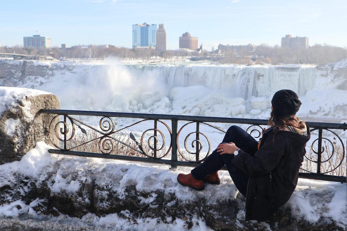cataratas del niagara invierno lado canadiense